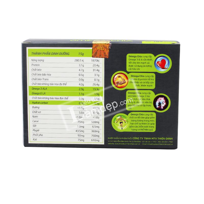 Hạt Chia Mỹ Omega Chia (10 gói x 15gr)