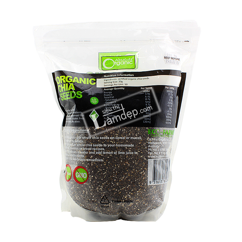 Hạt Chia Úc - Chia Seeds High In Omega 3 Absolute Organic